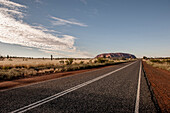 Uluru, Ayers Rock, Outback, Clouds, Road, Nothern Territory, Australia