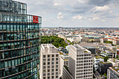 Skyline of Berlin from the Panorama Punkt Panorama Point, Berlin, Germany, Europe