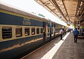 Karwal train station platform, Goa, India, South Asia
