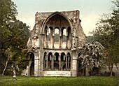 Ruins of Heisterbach Abbey, North Rhine-Westphalia, Germany, Photochrome Print, circa 1900