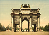 Arc de Triomphe, Paris, France, Photochrome Print, circa 1901