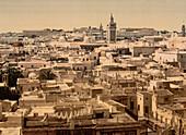 General View, Tunis, Tunisia, Photochrome Print, circa 1901