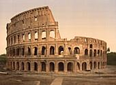 Coliseum, Rome, Italy, Photochrome Print, circa 1901