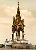 Albert Memorial, London, England, Photochrome Print, circa 1901