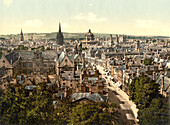 General View and High Street, Oxford, England, Photochrome Print, circa 1901