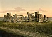 Stonehenge, near Salisbury, England, Photochrome Print, circa 1901