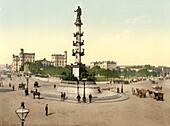 The Praterstern, Vienna, Austro-Hungary, Photochrome Print, circa 1901