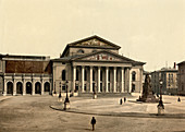 National Theatre, Munich, Bavaria, Germany, Photochrome Print, circa 1901
