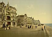 The Embankment, Ostend, Belgium, Photochrome Print, circa 1901