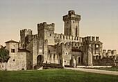 Scaliger Castle, Lake Garda, Sirmione, Italy, Photochrome Print, circa 1901