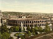 Arena, Verona, Italy, Photochrome Print, circa 1901
