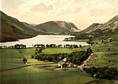 Buttermere and Crummock Water, Lake District, England, Photochrome Print, circa 1901