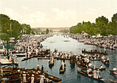 Henley Regatta, Course II, Henley-on-Thames, England, Photochrome Print, circa 1901