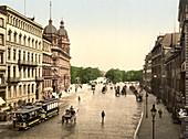 Dammthorstrasse, Hamburg, Germany Photochrome Print, circa 1901
