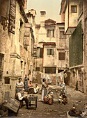 Old Venetian Courtyard, Venice, Italy, Photochrome Print, circa 1901