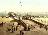 Britannia Pier, Yarmouth, England, Photochrome Print, circa 1901