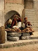 Bread Sellers, Jerusalem, Holy Land, Photochrome Print, circa 1901