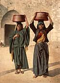 Milk Seller of Siloam, Holy Land, Jerusalem, Photochrome Print, circa 1901