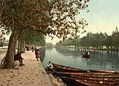 Promenade, Bedford, England, UK, Photochrome Print, circa 1901
