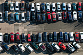 view of a car park from Jentower, Jena, Thuringia, Germany, Europe