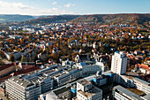 View from Jentower on the university Friedrich Schiller, Jena city, Thuringia, Germany, Europe