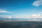 People on Long Beach Ao Yai, Ko Phayam, Andaman coast, Thailand, Southeast Asia