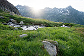Sunrise near Robiei, Lepontine Alps, canton of Ticino, Switzerland