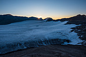 The Plaine Morte Glacier, early morning, Bernese Alps, cantons of Bern and Valais, Switzerland