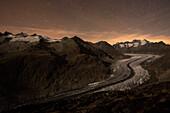Great Aletsch Glacier, Bernese Alps, canton of Valais, Switzerland