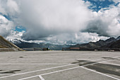 Parking area at Franz-Josef-Hoehe, Grossglockner High Alpine Road, Hohe Tauern mountain range, Austria