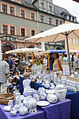 Pottery at the Pottery market, Weimar, Thuringia, Germany