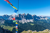 Funes Valley, Dolomites, South Tyrol, Italy. The Odle views from Monte Tulla