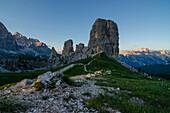 Cinque Torri, Falzarego Pass, Cortina d'Ampezzo, Dolomiti, Dolomites, Veneto, Italy. Cinque Torri