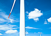 wind wheel, wind generator, wind engine and blue sky, Energy