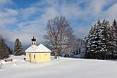 Maria Rast chapel at the Buckelwiesen, near Kruen, Bavaria, Germany