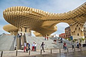 'Spain , Andalucia Region, Sevilla City ,Encarnacion Square, Metropol Parasol known as ''Las Setas''.'