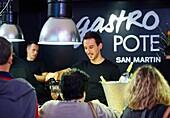 Wine and Tapas, Gastro Pote, San Martin market, Donostia, San Sebastian, Basque Country, Spain.