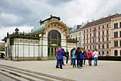 Otto Wagner Pavillon at Vienna , River Danube , Austria , Europe