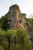 Rock-Hewn Churches of Ivanovo at Rusenski Lom Nature Park , Near Russe (Pyce) , River Danube , Bulgaria , Europe