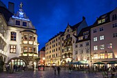 Germany, Bavaria, Munich, Hofbrauhaus, oldest beerhall in Munich, built in 1644, exterior.