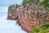 Hendaye coast, Hendaye, Pyrenees Atlantiques Department, Aquitania, France, Europe.