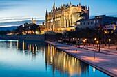 Catedral de Mallorca, Catedral-Basílica de Santa María , siglo XIV, Monumento Histórico-artístico, Palma de Mallorca ,Mallorca, balearic islands, spain, europe.