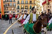 """Cavallets de Ciutat†?, Festa De L´Estandart, civic-religious festival in the Christian conquest of the city is commemorated by King Jaume I on December 31, 1229. Palma, Majorca, Balearic Islands, Spain, Europe."