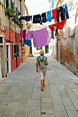 Hanging Laundry Castello Venice Italy IT Europe EU.