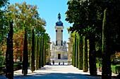 Promenade Buen Retiro Park Madrid Spain ES.