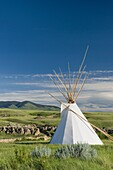 Tepee near visitor´s center, Writing on Stone Provincial Park Alberta Canada.