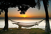 Hammock.Lifuka island. Ha´apai islands. Tonga. Polynesia.