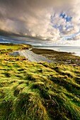 Cornborough Range from Cornborough Cliff on the North Devon Coast near Abbotsham, England.