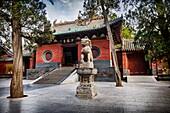 Shaolin Temple front gates in DengFeng, Zhengzhou, Henan Province, China 2014.