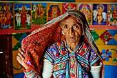 India, Gujarat, Kutch, Ludia village, Harijan ethnic group.